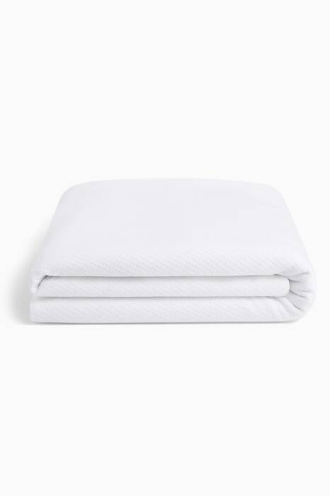 White Queen-Size Mattress Protector