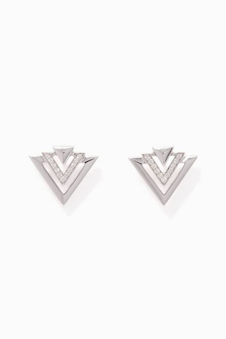 White-Gold & Diamond Avant V Earrings