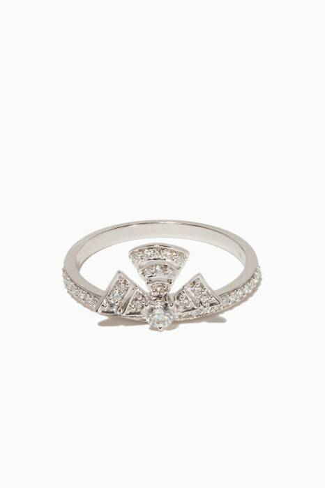 White-Gold & Diamond Labyrinth Ring