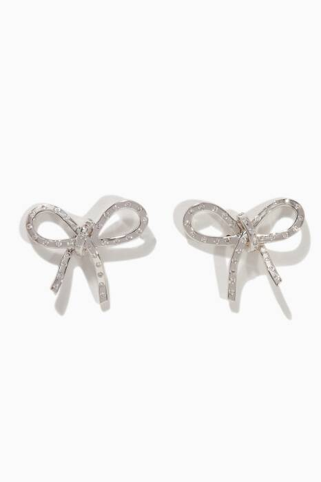 White-Gold Romance Earrings