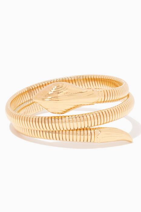 Gold Serpent Cuff Bracelet