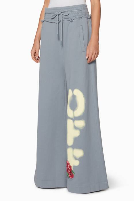Dove-Grey Off Big Track Pants