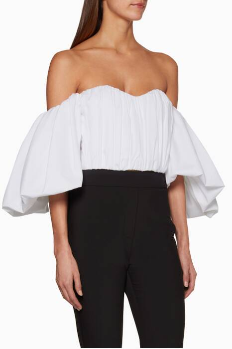 Ivory Bachelorette Ruched Corset Top