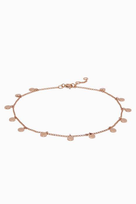 Rose-Gold 13 Charm Anklet