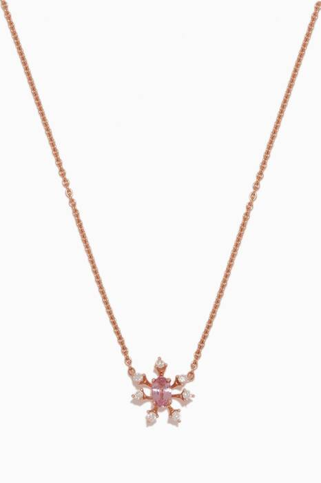 Rose-Gold, Diamond, Pink Sapphire Luminus Necklace