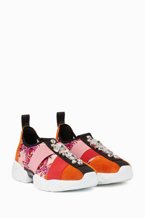 Multi-Colour Embellished City Sneakers