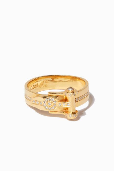 Yellow-Gold & Diamond Belt Ring