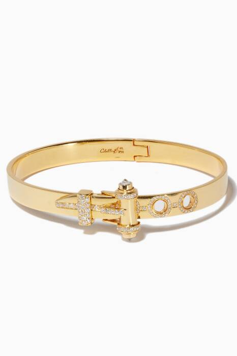 Yellow-Gold & Diamond Belt Bracelet