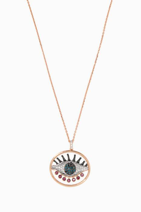 Rose-Gold Eyelashes Light Necklace