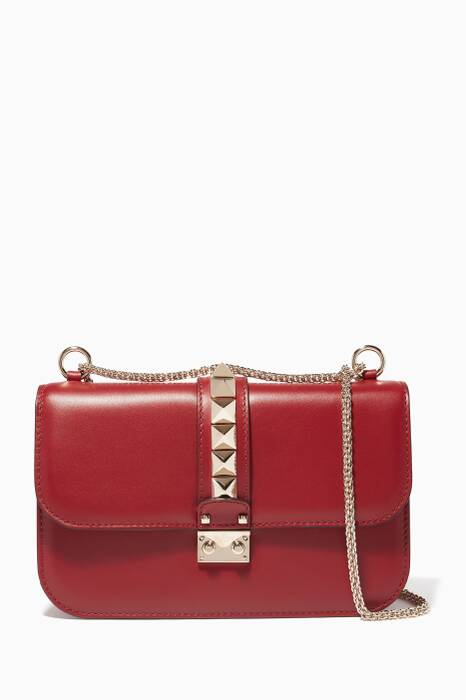Red Medium Chain Shoulder Bag