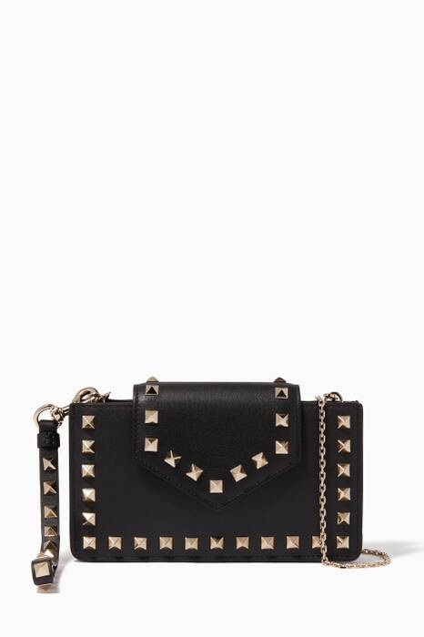 Black Rockstud Crossbody Smartphone Case