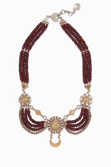 Red & Silver Contemporary Kirdan Necklace