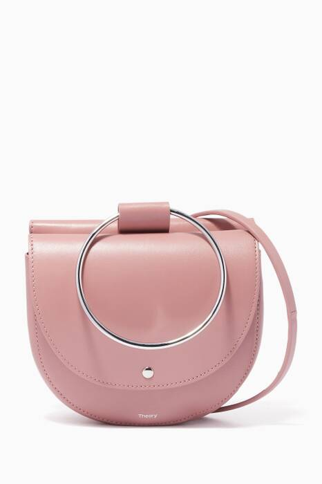 Pink Whitney 2.0 Hoop Leather Bag