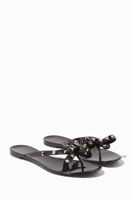 Black Rockstud Slippers