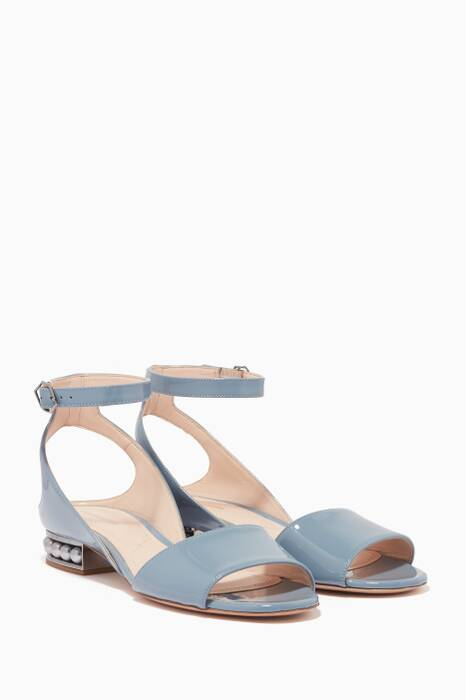 Bleached-Blue Pearl Lola Sandals