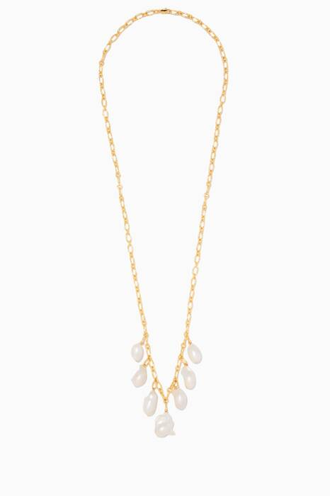 Gold Pagoda Fruit Necklace