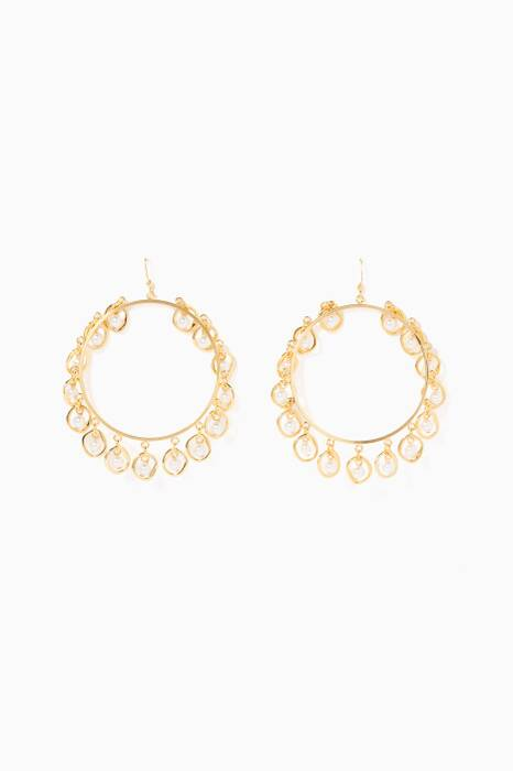 Gold Half Shell Earrings