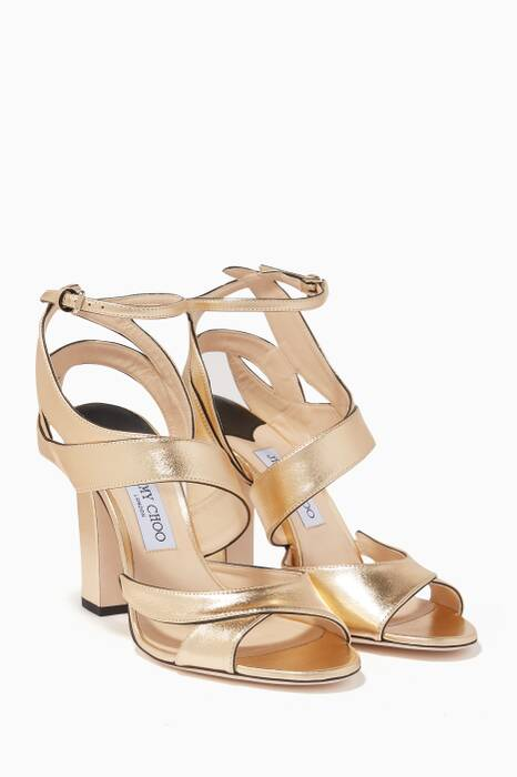 Gold Falcon Leather Sandals