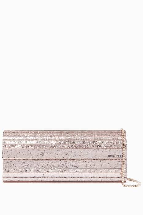 Light-Pink Sweetie Glitter Long Clutch