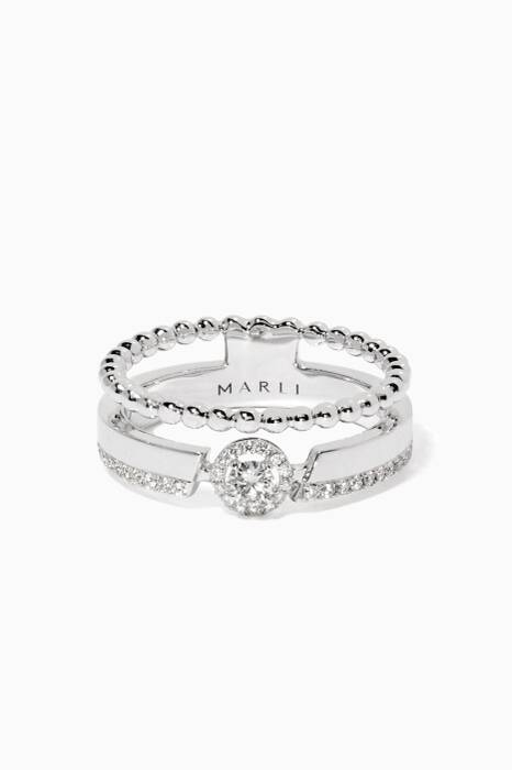 White-Gold & Diamond Rock Candy Ring