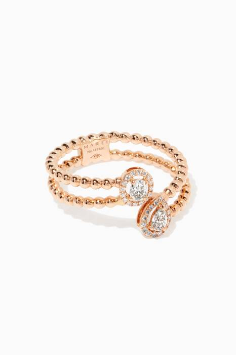 Rose-Gold & Diamond Rock Candy Ring