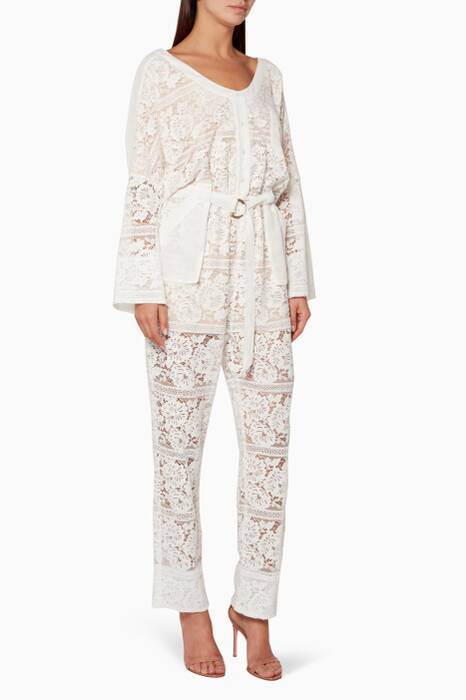 White Gisella Lace Jumpsuit