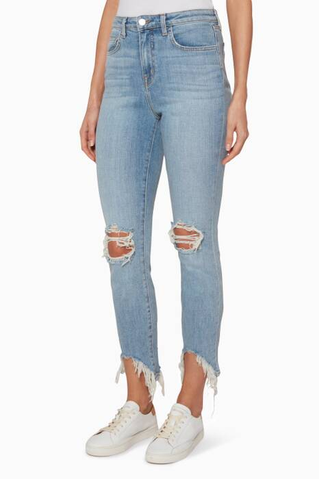 Blue High Line Skinny Jeans