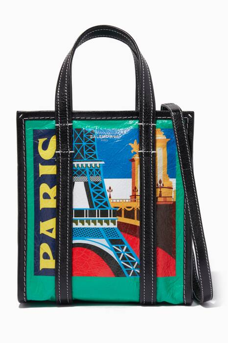 Green Mini Paris City Bazar Shopper Bag