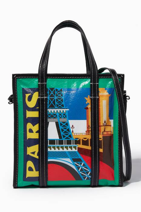 Green Medium Paris City Bazar Shopper Bag