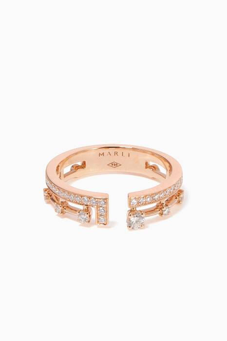 Rose-Gold & Diamond Avenues Index Ring