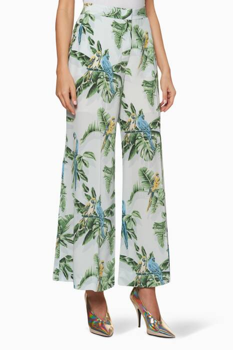 Light-Blue Darci Birds of Paradise Pants