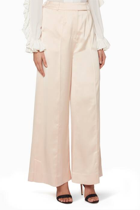 Blush Wide-Leg Harrow Pants