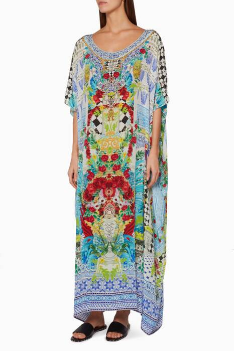 Multi-coloured Masking Madness Kaftan
