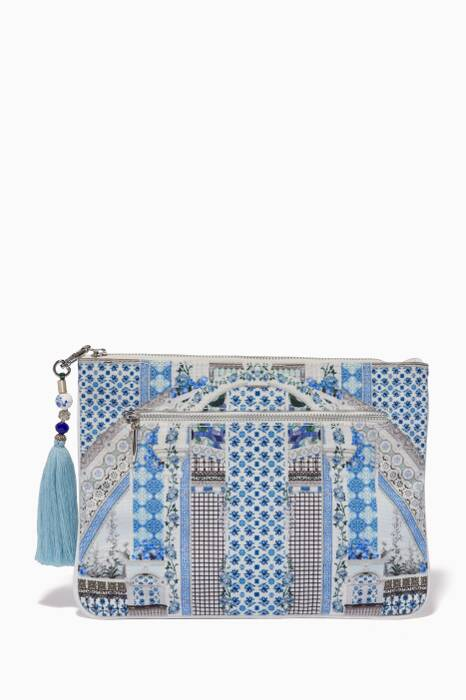 Multi-coloured Small Salvador Summer Printed Clutch