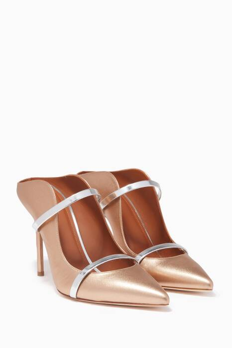 Gold Metallic Classic Point Toe Maureen Mules