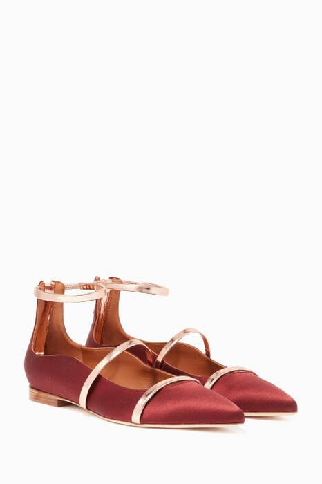 Red Robyn Satin Flats
