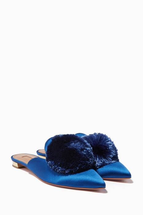 Blue Bell Satin Powder Puff Flats