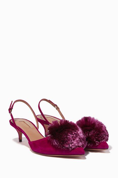 Iris Powder Puff Suede Pumps