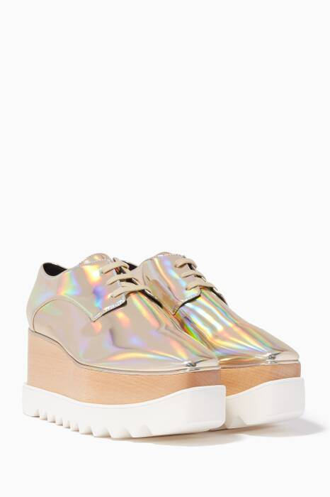 Gold Iridescent Elyse Star Platforms