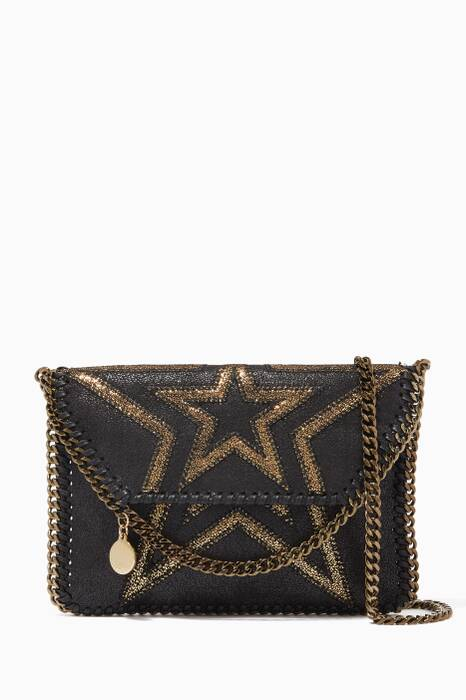 Black Mini Falabella Shaggy Star Cross-Body Bag