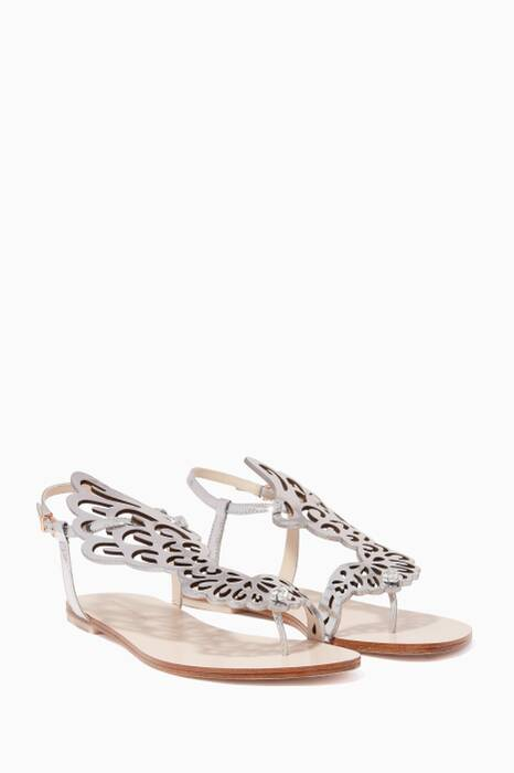 Light-Beige Seraphina Mirror Butterfly Sandals