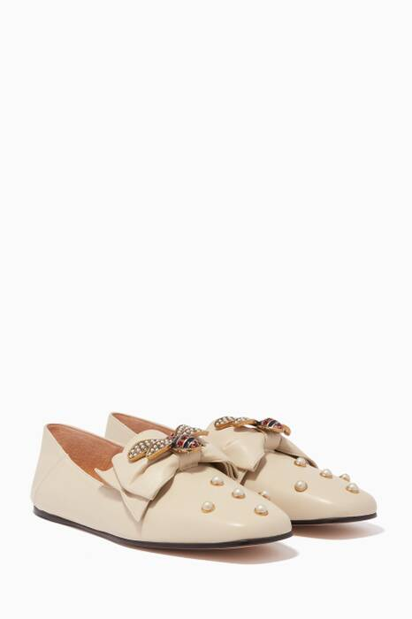 White Queen Margaret Bow Ballet Flats