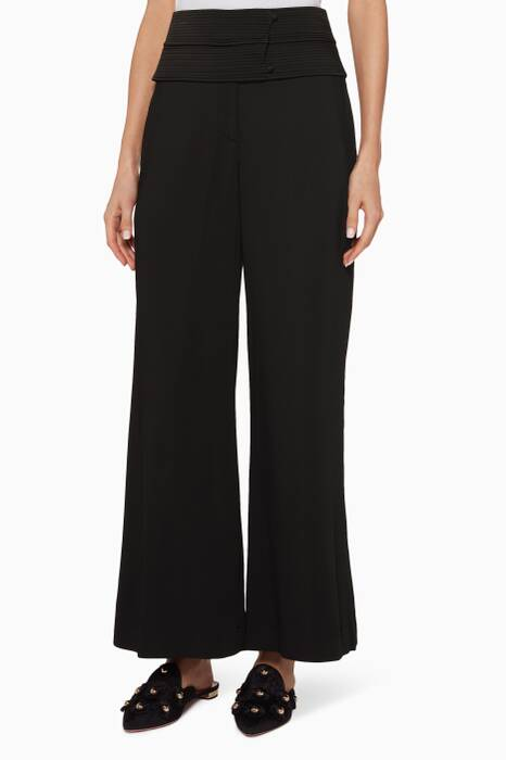 Black Obi Stretch Pants