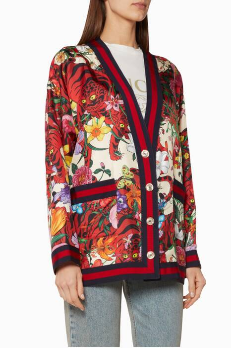 Multi-Coloured Floral Printed Jacket