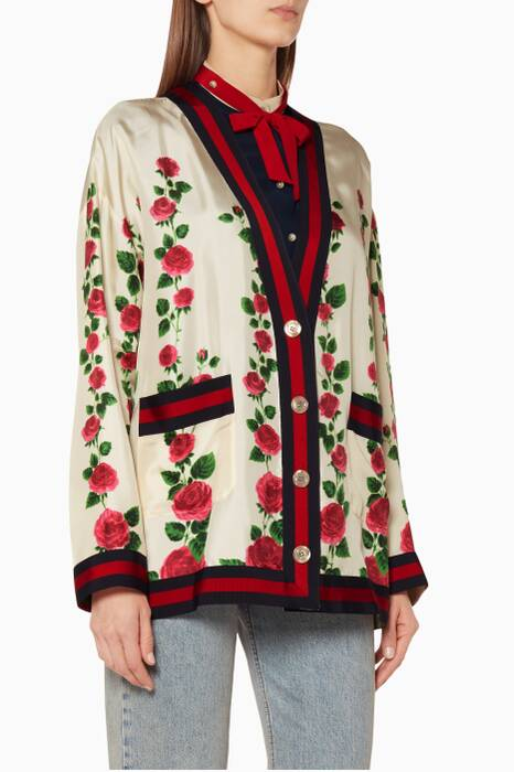 Multi-Coloured Rose Garden Printed Jacket