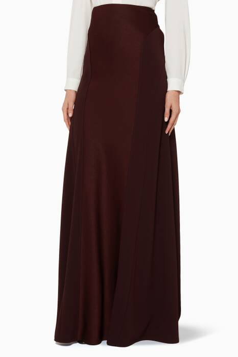 Burgundy Long Skirt