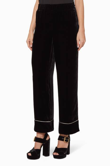 Black Velvet Rodier Pants