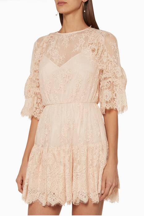 Shell Lace Everlasting Mini Dress