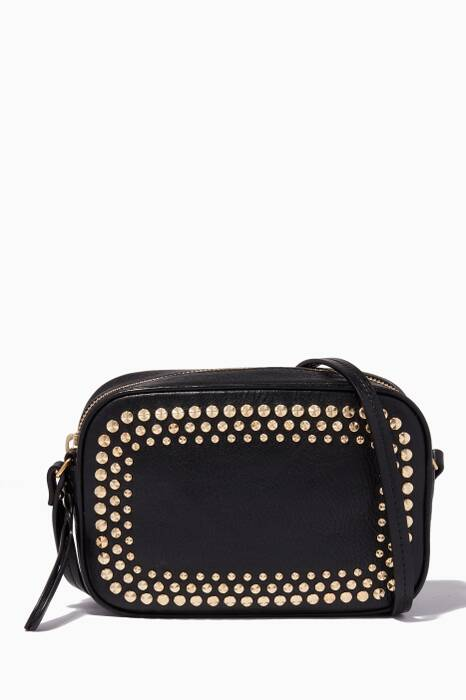 Black Embellished Camera Bag