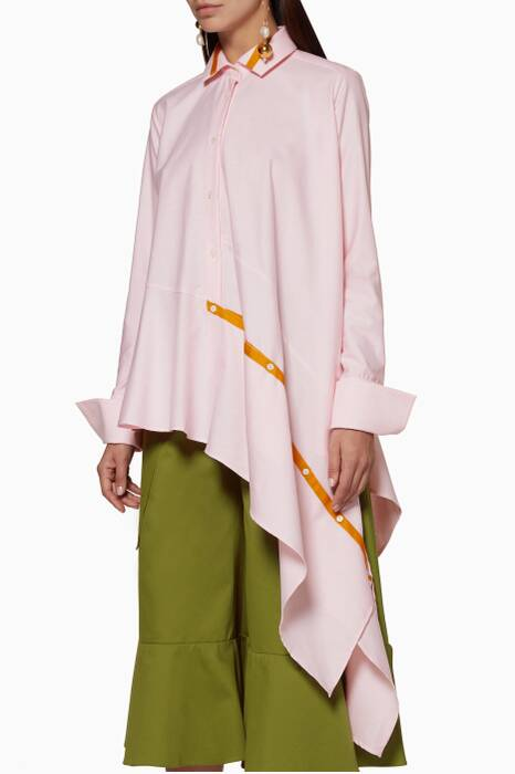 Pastel-Pink Asymmetric Spicy Shirt